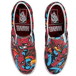 0c60885027a2 ... The Vans x Marvel Spider Man Classic Slip-On in Multi and Black ...