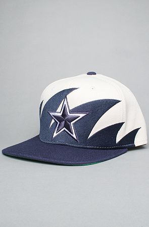 ae8879ce4e5 The Dallas Cowboys Sharktooth Snapback Hat in Blue   Gray