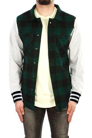 College Plaid Button Down Jacket