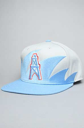 The Houston Oilers Sharktooth Snapback Hat in Baby Blue   Gray d14c3a3bbd8