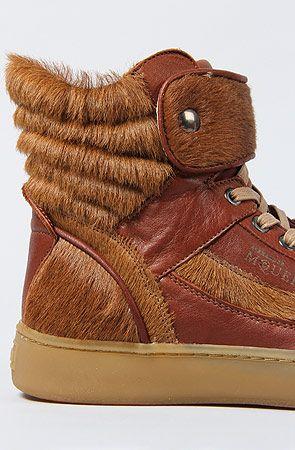 The Alexander McQueen Joust Pony Sneaker in Rust