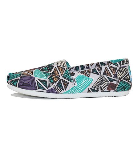 75e8470bb0c Toms for Women  Classic White Multi Canvas Printed Abstract