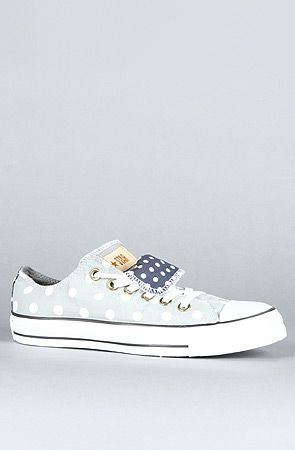 910f4832ac88 The Bleach Polka Dot Chuck Taylor All Star Double Tongue Sneaker in Gray  and White
