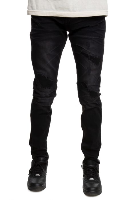 Vintage Repair Jeans in Dusty Black