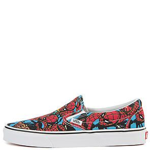 4e46cf4a4741 The Vans x Marvel Spider Man Classic Slip-On in Multi and Black ...