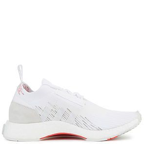 cae02e647b16e8 ... The Women s NMD Racer Primeknit in White and Trace Scarlet ...