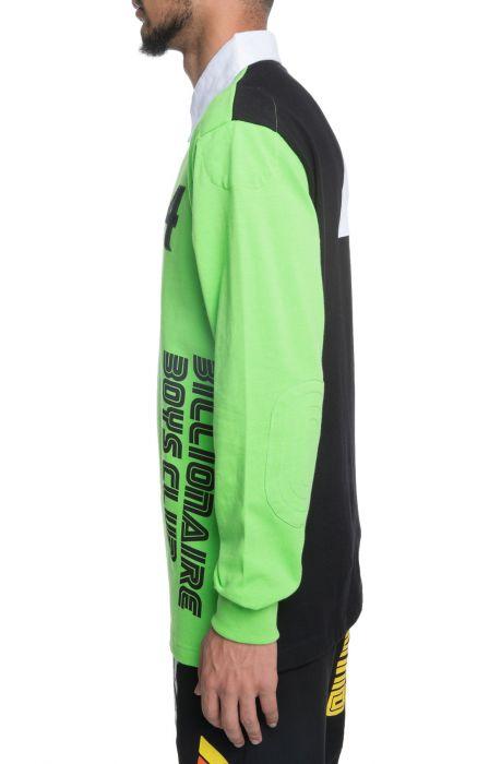 Podium Long Sleeve Polo In Green
