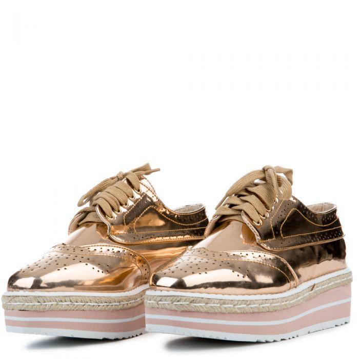 9d80238395 Cape Robbin Roxy-1 Rose Gold Women's Platform