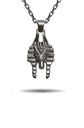 The Micro Anubis Necklace (Gunmetal)