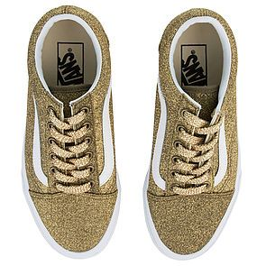 6b07778574e ... The Women s Old Skool Lurex Glitter in Gold and True White