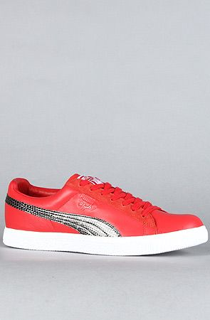 official photos 8f0f0 36a62 The Puma Clyde X UNDFTD Snakeskin Sneaker in Ribbon Red