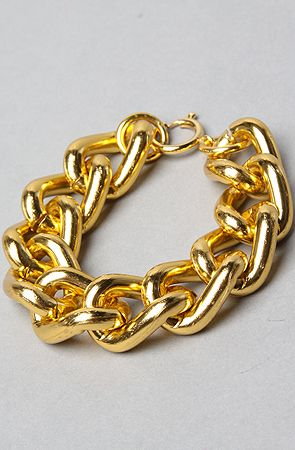 the chunky chain bracelet in gold