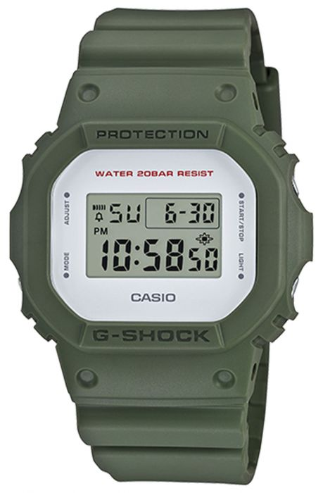The DW-5600M Military Color Theme Watch in Green Green