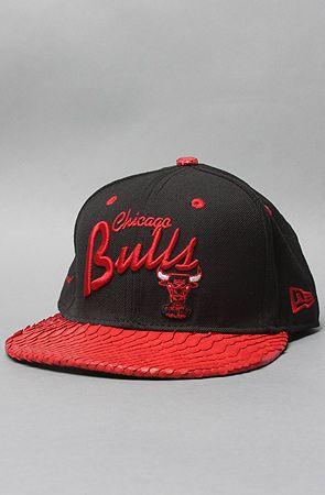 1e49bfcc4d6 The Chicago Bulls Snakeskin Snapback Hat in Black   Red