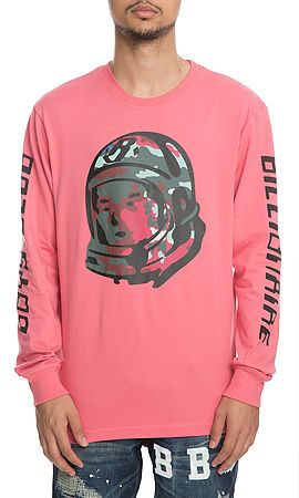 Billionaire Boys Club Tee Camo Helmet Long Sleeve Desert Rose Pink 48d479e17