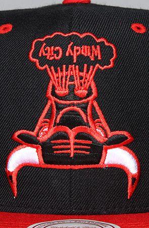The Chicago Bulls Upsidedown Snapback Hat in Black 86968c06fc93