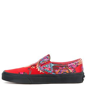 58b5c36648 The U Classic Slip-On Festival Satin in Red and Black