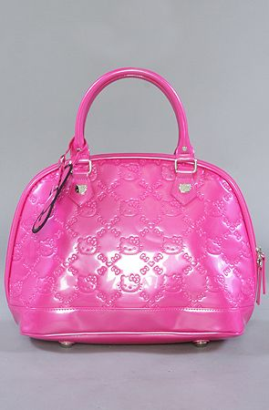 f6c9b78b2 The Hello Kitty Embossed Bowler Bag in Pink