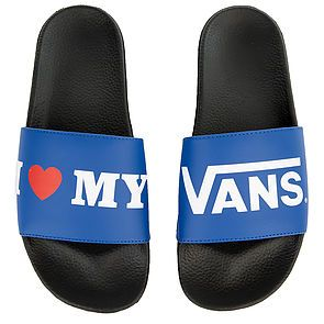 3ee7c9752b9a8 The Men s M Slide-On I love Vans in True Blue and Black