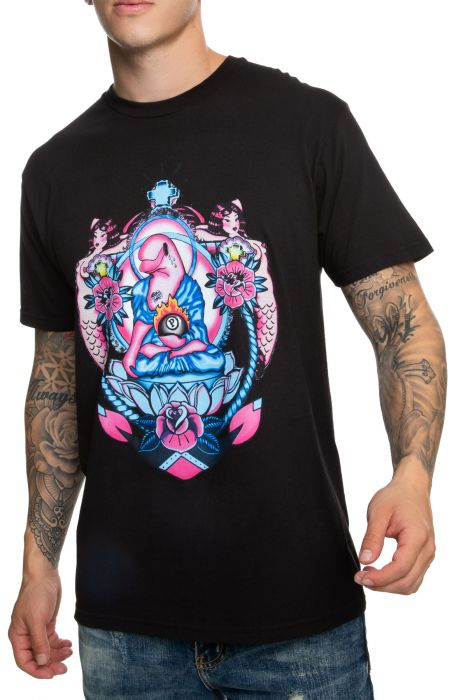 Traditional Crest Tee in Black