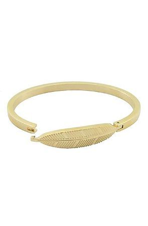 c23a98f86be96 The Mister Axle Feather Bracelet - Gold