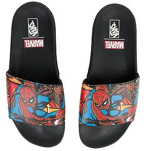 1acdf4766d The Vans x Marvel Spider Man Slide-On in Multi and Black ...