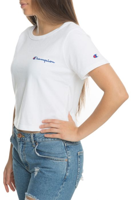 3dc4aa66b7668b ... The Women s Cropped Tee in White ...