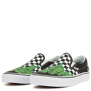 a13c989ed9c9c5 ... The Vans x Marvel Hulk Checkerboard Classic Slip-On in Multi ...