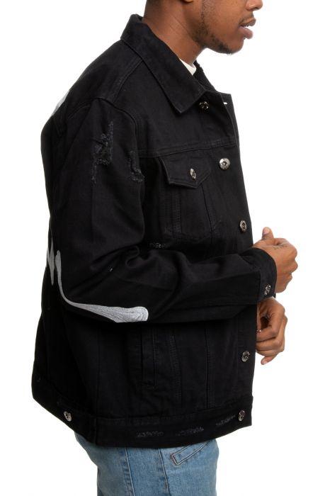 Spinal Denim Jacket in Jet Black