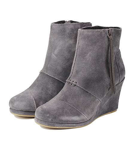 aff3c9da043 ... Toms for Women  Desert Wedge High Dark Grey Suede Boots Grey ...