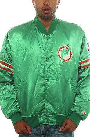 best loved 4289c 71908 Miami Dolphins NFL Satin Starter Jacket Vintage