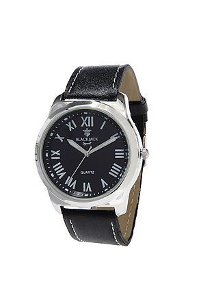 The Gentlemans Watch In Silver And Black
