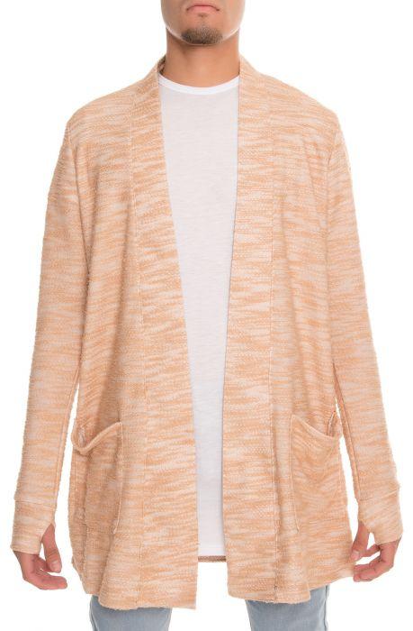 The Slub Knit Kimono Cardigan in Mocha