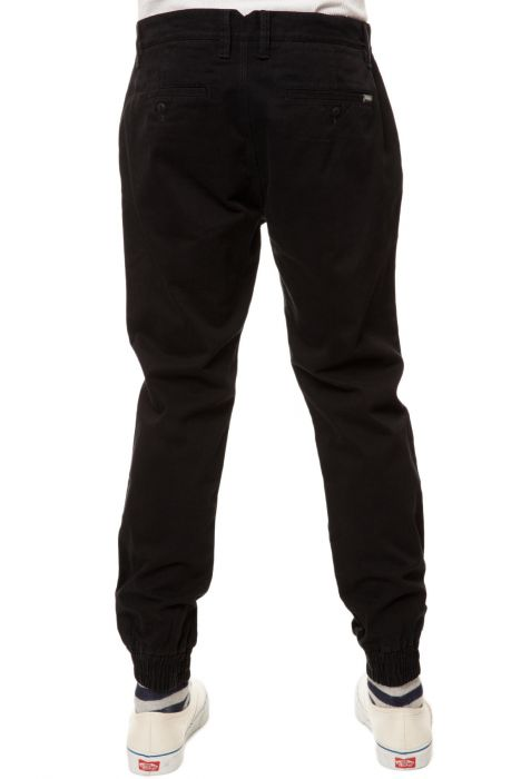 vans pants excerpt chino pegged joggers in black
