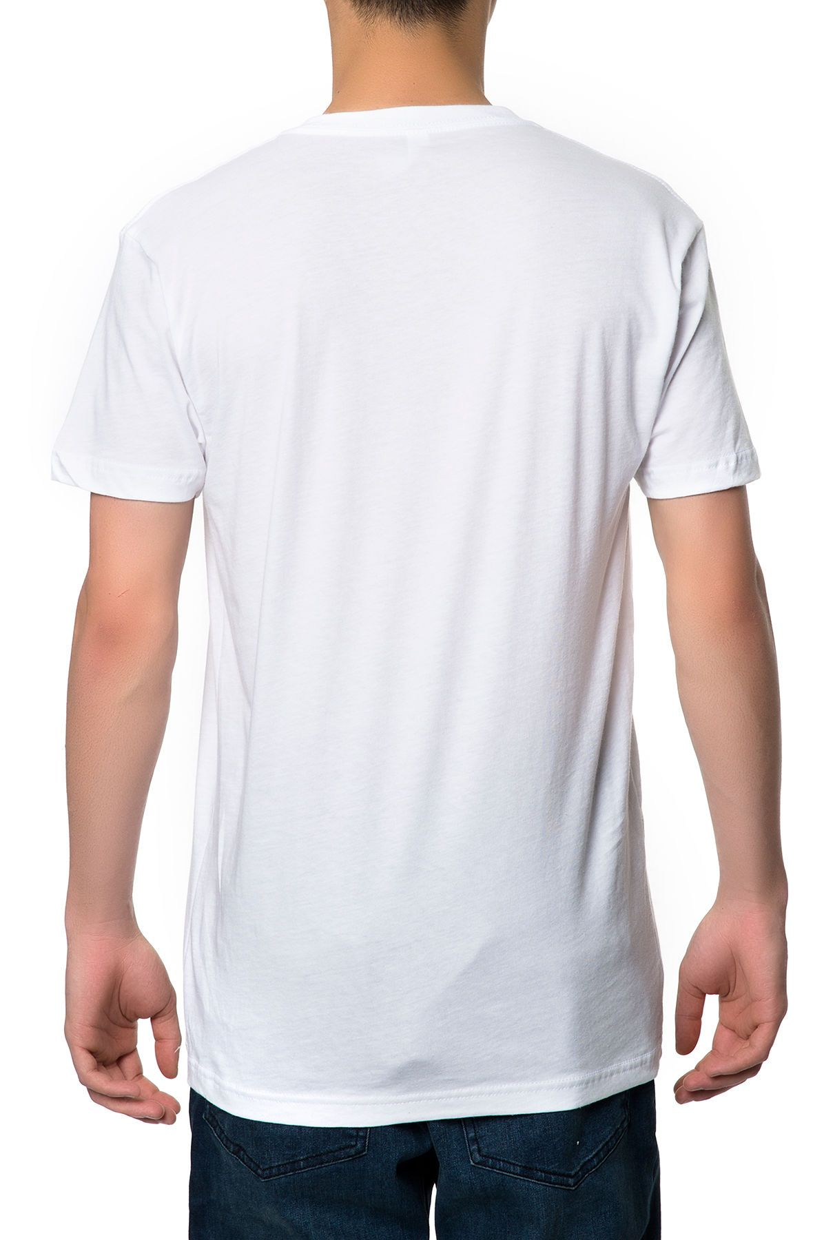 the basic vneck tee in white