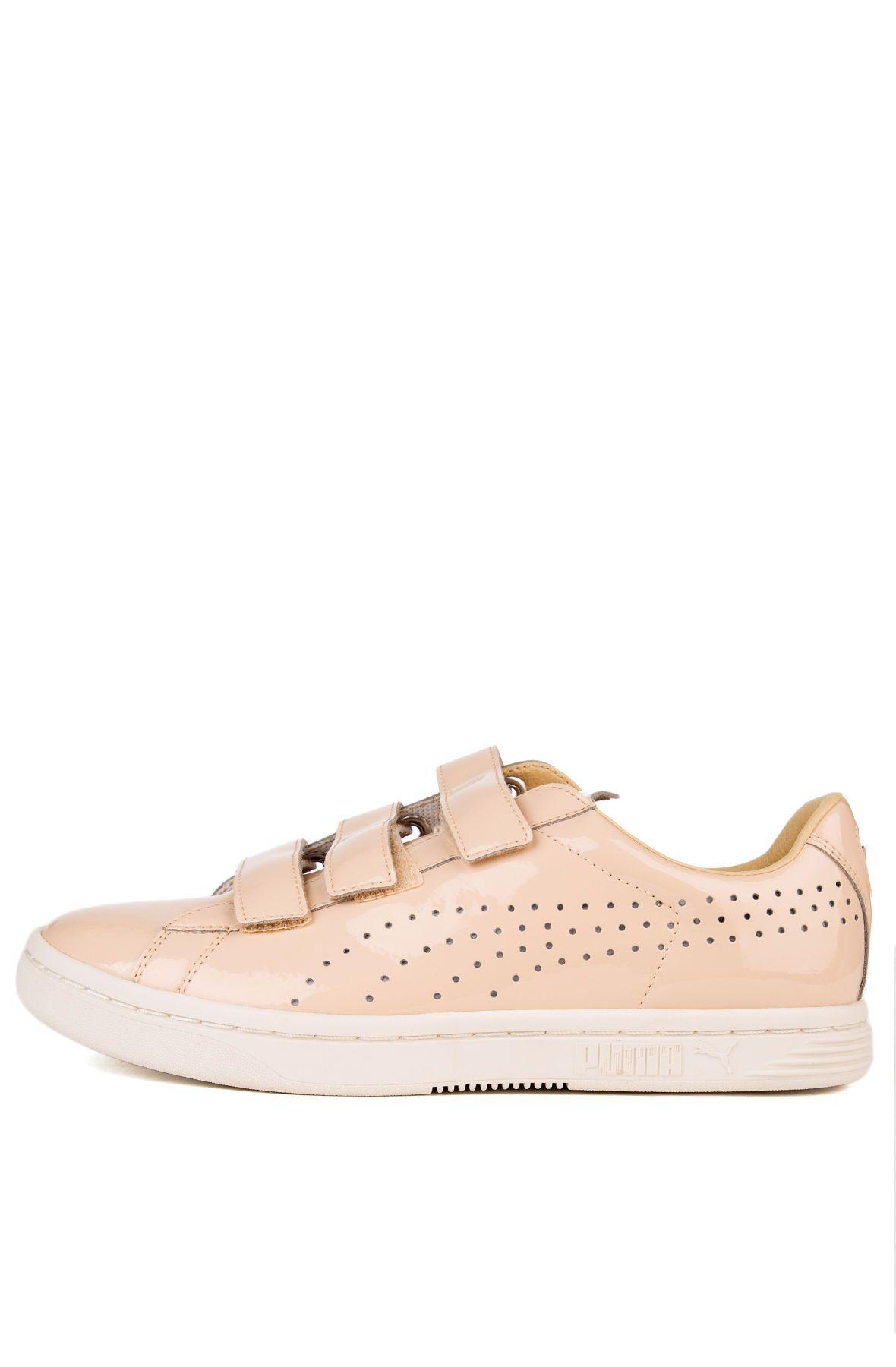 The Court Star Velcro Nude Sneaker in Natural Vachetta and Whisper White