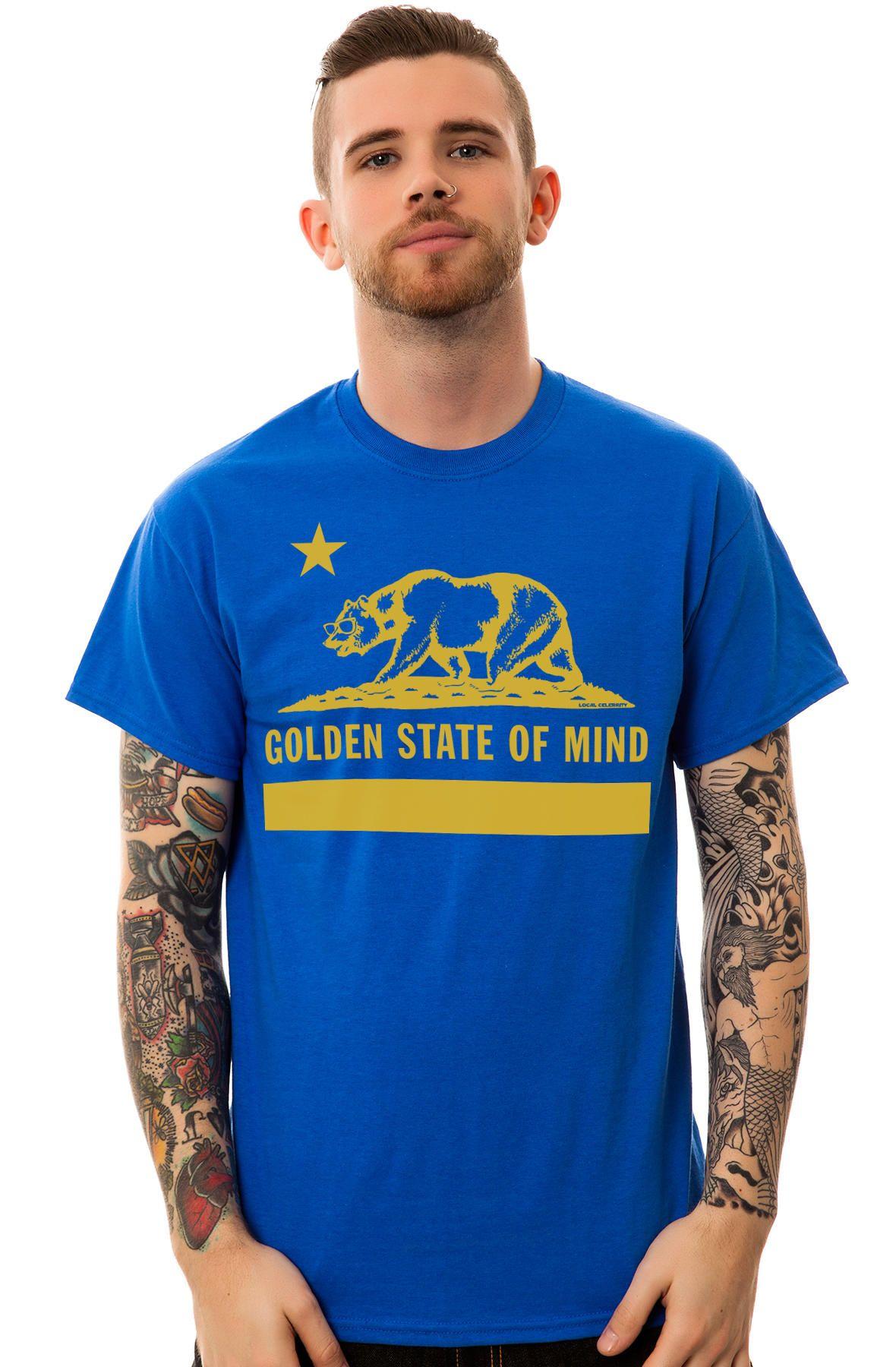 The Golden State of Mind Baseball Tee in Black - plndr.com