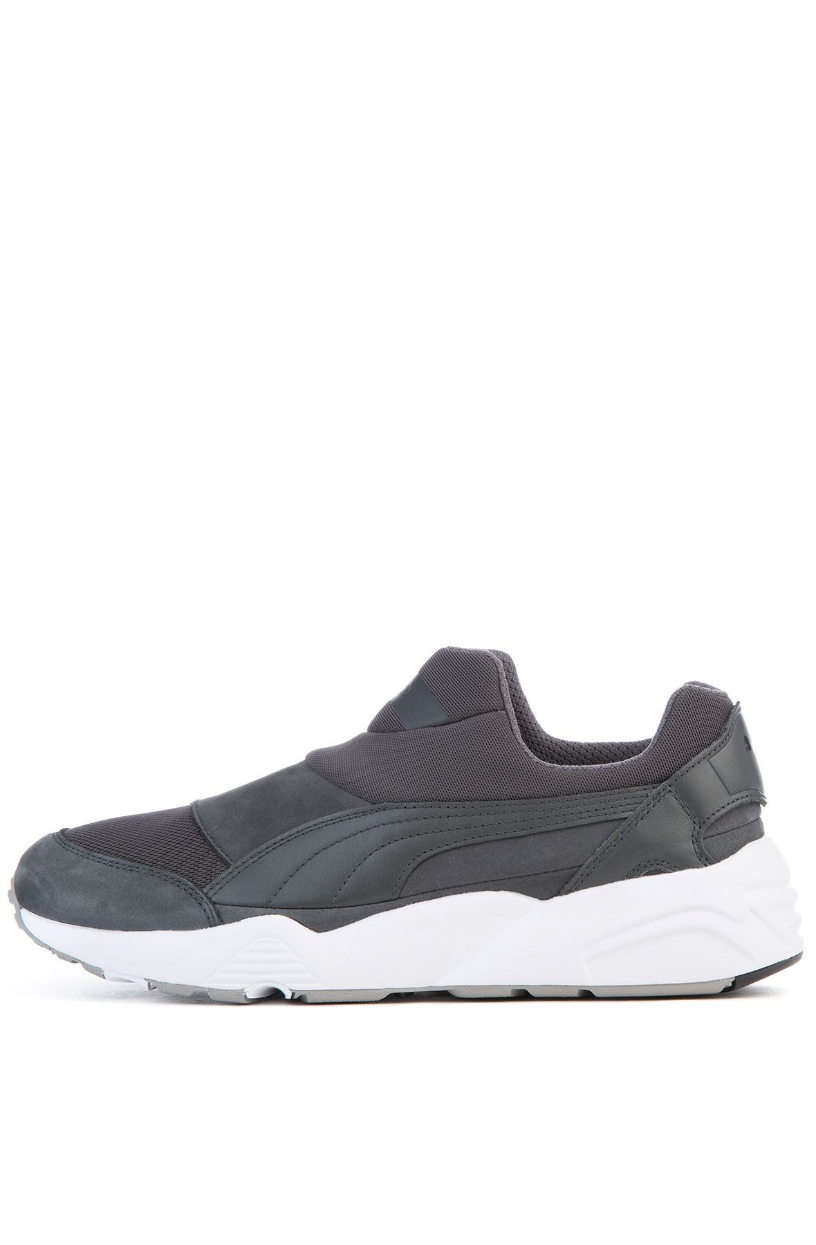 The Puma x Stampd Trinomic Sock NM Sneaker in Asphalt and White