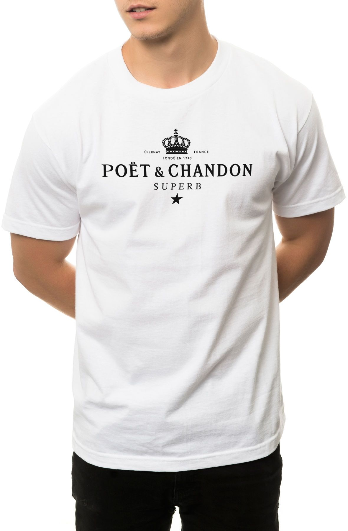 Superb Tee The Poet Chandon in White