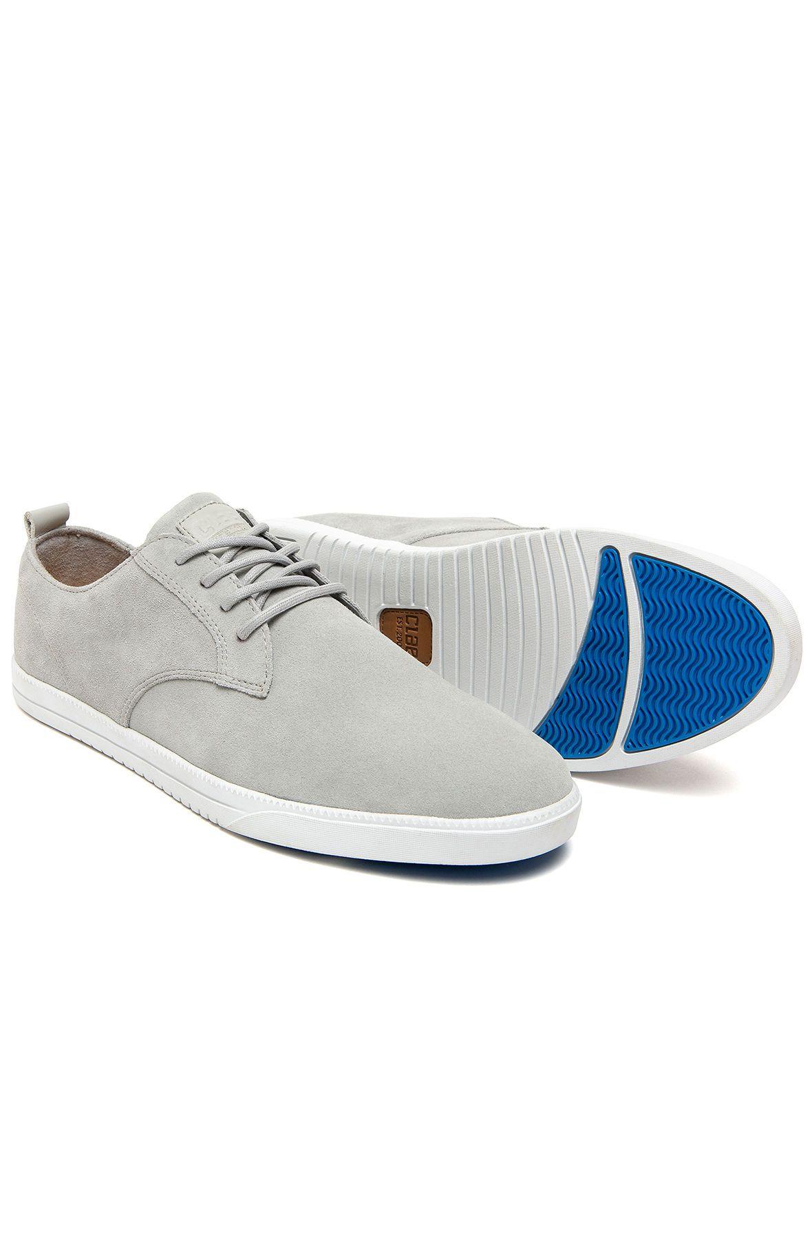 The Ellington Gravel Suede Shoes In Gray