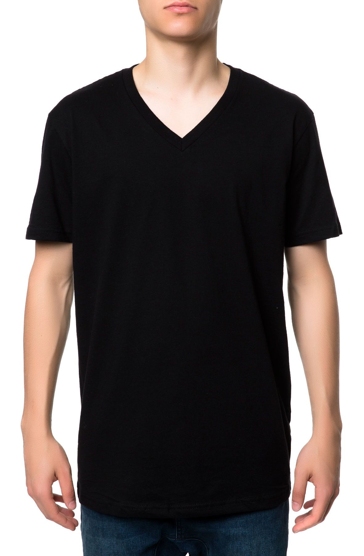 the basic vneck tee in black