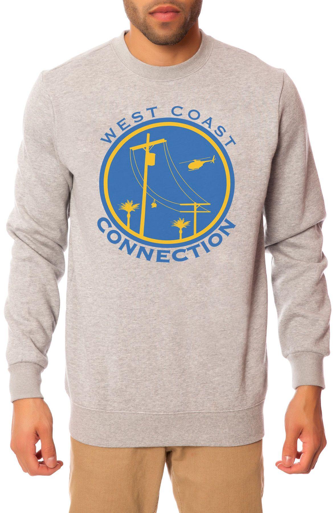 The West Coast Connection Crewneck Sweatshirt in Heather Grey