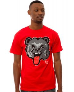 The Black Bear Tee in Red