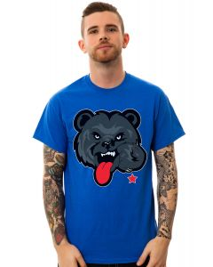 The Black Bear Tee in Royal Blue