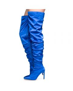 0b83815956f Cape Robbin Kitana-6 Women s Royal Blue High heel Boots
