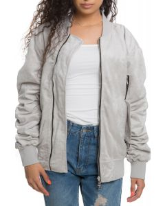 788cd9495 The Women''s Suede Bird Bomber in Light Grey