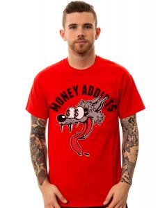 The Money Addicts Tee in Red