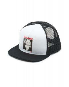 44b248a61d0 The Vans X David Bowie Serious Moonlight Trucker Hat in White and Black