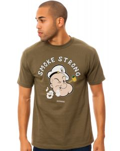 The Smoke Strong Tee in Military Green