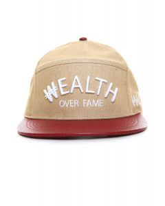 The Wealth Over Fame Arc Strapback - Wheat/Maroon